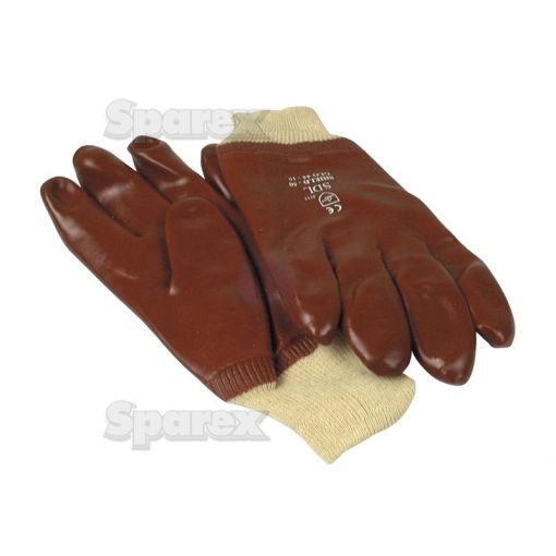 Red PVC Coated Gloves - T.9/L S.54243