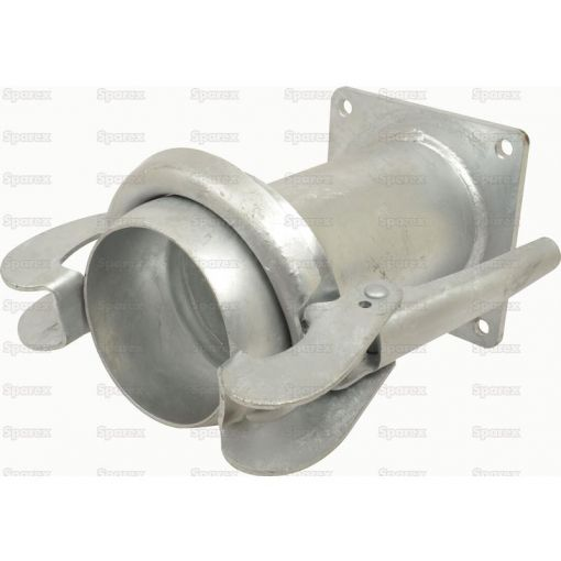 Square Flange Long - Male 108mm (4) (Galvanised) S.59435