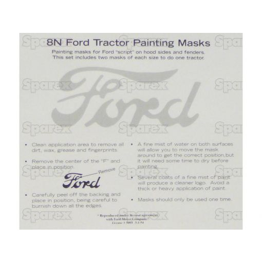 FORD SCRIPT PAINTING MASK S.61441